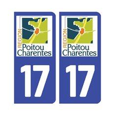 plaque Charente-Maritime 17 - Pack de 2