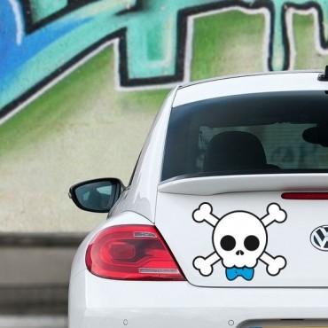 Sticker Skull boy - stickers tête de mort & autocollant voiture - stickmycar.fr
