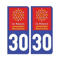 Sticker plaque Gard 30 - Pack de 2