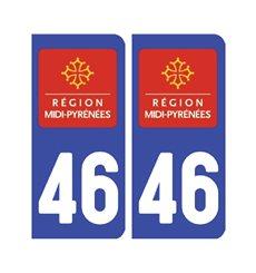Sticker plaque Lot 46 - Pack de 2