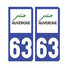 plaque Puy-de-Dôme 63 - Pack de 2