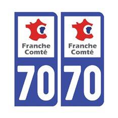 plaque Haute-Saône 70 - Pack de 2