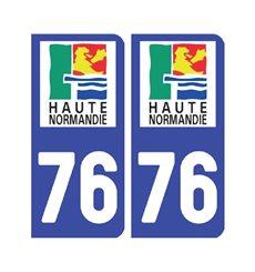 Sticker plaque Seine-Maritime 76 - Pack de 2