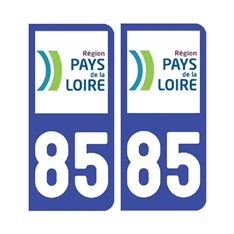Sticker plaque Vendée 85 - Pack de 2