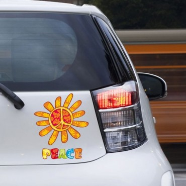 Sticker Peace and love fun - stickers peace and love & autocollant voiture - stickmycar.fr