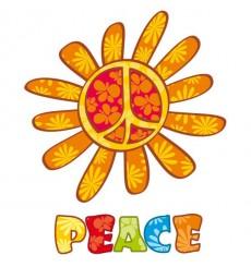 Sticker Peace and love fun
